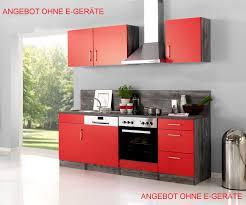 küchenzeile sevilla küchen leerblock breite 220 cm rot samtmatt eiche vintage