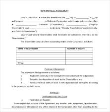 Selling A Business Contract Template Free By 20 Buy Sell Agreement Templates Sle Exle