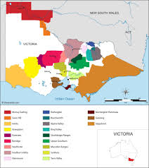 Wine Regions Of California Map Outline Regional Australia