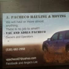 A. Pacheco Hauling And Moving - Sutter, California | Facebook