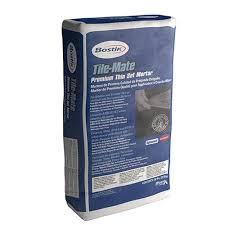 tile mate premium thin set mortar 50 lb bag gray