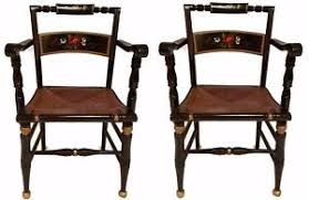 free shipping pair of hitchcock era boling chair co accent arm