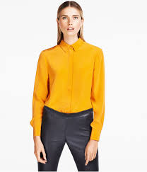 h u0026m blouse in yellow lyst