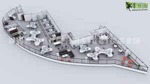 Modern 3D fice Floor Plan Concept Yantram Architectural Design