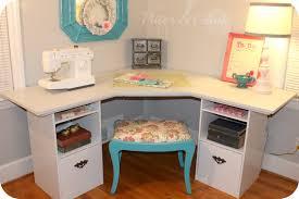 Wood Corner Desk Diy by Pitterandglink Craft Room Corner Desk