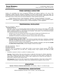 Resume Format For Food Service Job Description Professional Templates And Beverage Director Dietary Manager