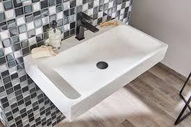 dea waschtisch aus marmor weiß lapidispa spa ambiente