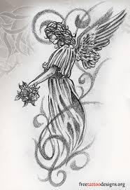 Catholic Guardian Angel Drawing