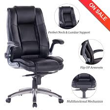100 Heavy Duty Office Chairs With Removable Arms Amazoncom VANBOW High Back Leather Chair Adjustable Tilt