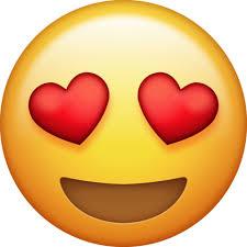 Heart Eyes Png Emoji Clipart Transparent Background