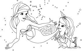 Sofia The First Mermaid Coloring Pages