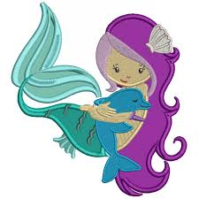 With a Cute Dolphin Applique Machine Embroidery Design Digitized