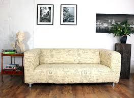 natural script pattern cotton klippan 2 seat sofa cover hipica