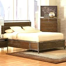 Industrial Bedroom Furniture Sets Set With Bed Frame And Style Dresser Also Nightstand