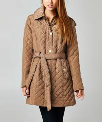 MICHAEL Michael Kors Truffle Tie Waist Quilted Jacket