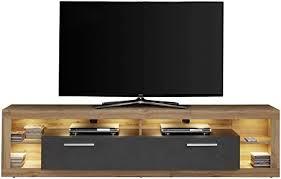 newfurn tv lowboard modern tv schrank fernsehtisch rack board ii 200x48x 44 cm bxhxt ii twentythree in wotan eiche matera wohnzimmer
