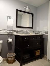 Paint Color For Bathroom With Brown Tile by I Like This Blue But Not The Tile But Shows Us How It Works With