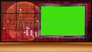 News 13 Broadcast TV Studio Green Screen Background Loopable