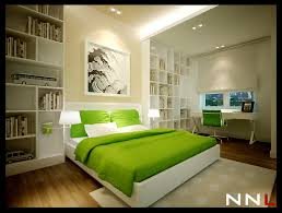 Enchanting Interior Design Ideas For Your Bedrooms Astounding With Green Comforter Platform Bed And