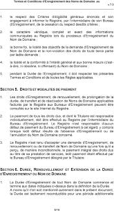 bureau d enregistrement nom de domaine termes et conditions d enregistrement des noms de domaine eu pdf