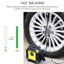 DC 12V Car Tire Inflator Auto Air Compressor Pump 100PSI With ... Tire Inflator From Northern Tool Equipment 2018 Car Truck Tyre Tire Air Inflator Pump Hose Pssure Meter Gauge Digital Compressor Deko For Suv Motor 6mm Brass Valve Connector Clipon Epauto 12v Dc Portable By Cheap Find Deals On Line At 12volt 150 Psi Compact Mini Inflatorsuperpow Auto 100psi Inflators Or China Jqiao Auto Audew