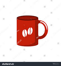 Red Coffee Cup Icon Flat Design Stock Vector 777205531