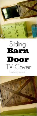Sliding Barn Door TV Cover Tutorial Urban Woodcraft Interior Barn Door Reviews Wayfair Doors Tv Custom Sized And Finished Www Gracie Oaks Cleveland 60 Stand Farmhouse Woodwaves 50 Ways To Use Sliding In Your Home 27 Awesome Ideas For The Homelovr Remodelaholic 95 To Hide Or Decorate Around Custom Made Reclaimed Wood By Heirloom Llc Headboard Window Covers Youtube 9 You Can Southern California Double Closet