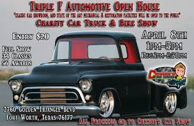Spring Open House Car, Truck & Bike Show | Triple F Automotive 1951 Chevy Truck Maintenancerestoration Of Oldvintage Vehicles Truck Restorations By Motorheads Restoring A Classic Hot Rod Network Ford F1 Classics For Sale On Autotrader R Model Mack Restoration Mickey Delia Nj Used 1964 Gmc Pick Up Resto Mod 454ci V8 Ps Pb Air Frame Off Bobs 1985 Dodge Truck Bills Auto The First Bulldog Gallery Ignition 1970 F100 Pickup The Day 1930 Chevrolet Classiccarscom Journal 10 Pickups That Deserve To Be Restored