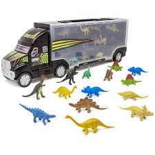 100 Dino Trucks Boley 16 Saur Transport Truck Carrier 14PC Mini Figures