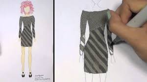 How To Draw Clothes For Beginners Fashion Designing Black And Grey Mini Dress