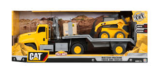 Caterpillar Massive Machine Lights And Sounds Truck And Trailer ... Cat Big Rev Up Machine Dump Truck Toy At Mighty Ape Nz Tough Tracks Cstruction Crew Sand Set Amazoncom State Caterpillar Takeapart Trucks Express Train With Machines Toys 36 Piece Kids Shaped Floor Puzzle Nr16n Reach Yellow Norscot 55242 125 Scale Luxurious Cat Cement For Sale 15 Remote Control Toystate Job Site By Revup Vintage Ls Buy Mini Cars Of