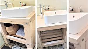 waschtisch selber bauen aus holz und aufsatzwaschbecken montieren anfängerstufe