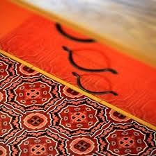 tapis de cuisine orange blanche porte tapis cuisine motif oiseaux