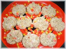 Rice Krispie Halloween Treats Candy Corn by Rosie U0027s Country Baking Pumpkin Shaped Candy Corn Rice Krispy Treats