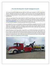 Now You Can Have Your Truck Towing Jacksonville By Thompson ...