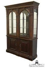 Henredon Walnut China Cabinet by Bernhardt Furniture Ebay