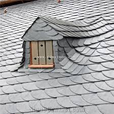 roofing tile cheap black roofing slate tile fish scale shape roof