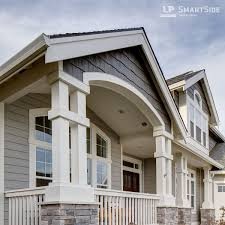 This Elegant Home Features LP SmartSide Trim And Fascia As Well As