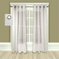 atlantic stripe grommet top sheer patio curtain panel