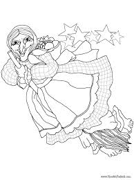 La Befana Christmas Witch Coloring Page
