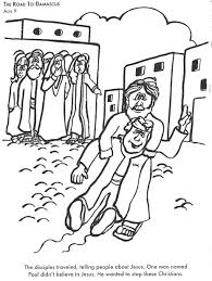 Saul On The Road To Damascus Coloring Page 17 BIBLE COLORING PAGES