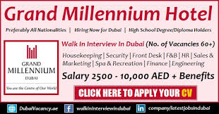Front Desk Job Salary Hotel by Grand Millennium Dubai Hotel Jobs Latest Walk In Interview