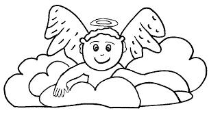 Baby Angel Coloring Pages 10 AngelsAngel Clipart Art Works Angelic Arts