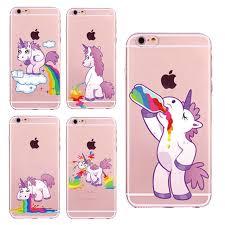 New Cute Unicorn Rainbow Case For IPhone 5 5s SE 6 6s 7 7Plus 6Plus Puke