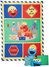 amazon com sesame street construction zone 4 piece toddler set