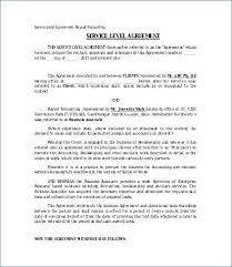 Service Level Agreement Outsourcing Template Contract Hr Agreements