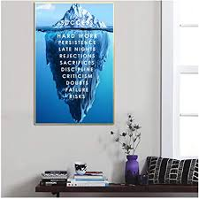 linshel eisberg des erfolgs leinwand poster landschaft