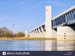 100 Magdeburg Water Bridge Trogbruecke 10 Stock Photo