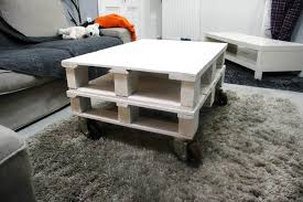 Chic White Mini Pallet Coffee Table
