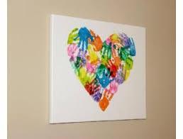 Handprint Heart Canvas Art From Miss Audreys Th 1s Class